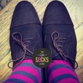 blue, fucsia, stripes, men socks