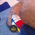 man socks, miró, joan miró, art socks, socks with lines