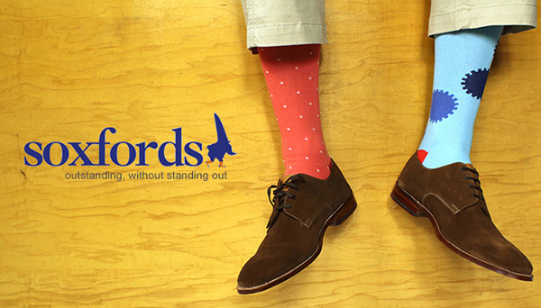 soxfords, man socks, socks, dotted socks, brown shoes